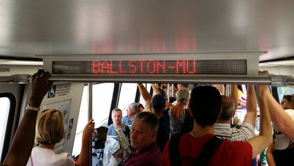 The Silver Line continues! Next station, Ballston-MU.