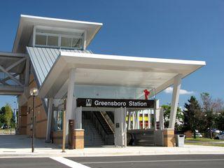 Entrance to Greensboro station.
