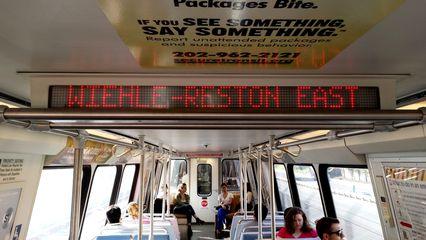 Next station: Wiehle-Reston East!