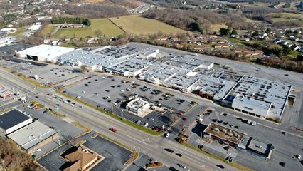 Staunton Mall, viewed from above