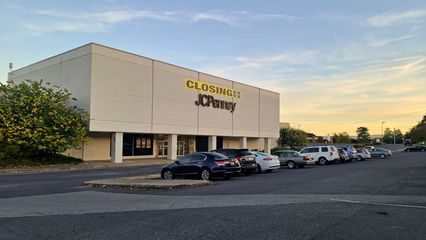 The JCPenney store in its last days of operation, photographed on October 14, 2020.