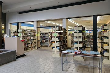 Former Piece Goods Shop space, now home to Know Knew Books.