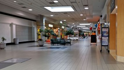 View of the JCPenney wing, facing south from the center court, photographed January 13, 2014.