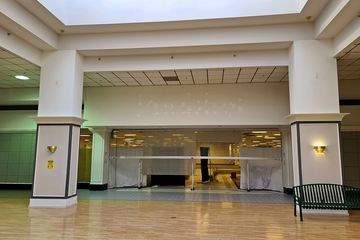 The Peebles store was located in the center court, on the back side of the mall. This building originally housed a Woolworth store, which was an original Staunton Plaza tenant.