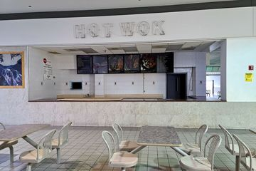 Original Hot Wok location. Hot Wok opened in this location in 1999, and continued to operate in this space until the fall of 2020, moving to the former Country Cookin space in the front of the mall (shown earlier) at that time.