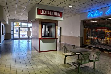 The movie theater in Staunton Mall operated under a few different names over the years. It was operated by RC Theaters as Mall Cinemas, and later became a Regal Cinemas property. The theater closed in 2010, and remained closed until 2017, when it reopened as Legacy Theaters. Interestingly, the box office was always freestanding in the mall corridor, rather than attached to the theater.