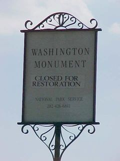 And our nation's formal tribute to him is closed for repairs. Drat... I wanted to go up.