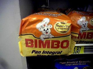 """On January 17, I noticed this brand of bread and other baked goods on the shelves at Wal-Mart. I personally find """"Bimbo"""" to be an odd name for a brand of anything. The brand is aimed at Hispanic consumers, so I presume that """"bimbo"""" doesn't carry the same connotation in Spanish that it does in English."""