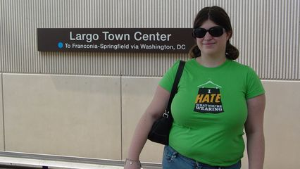 After visiting The Boulevard at the Capital Centre, we took a photo to mark the occasion, as Sis had now visited her third terminal - Largo Town Center. This was also her first trip into Maryland via the Metro.