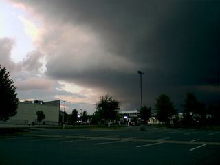 September 3 in Charlottesville: Look at the clouds... dark and threatening, but ultimately, nothing came of it.