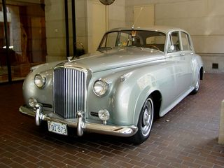 And in front of the Fairmont was this classic car, a Bentley S2.