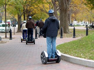 On November 7, while I was in DC, I spotted a group of people on Segways running around Lafayette Park.