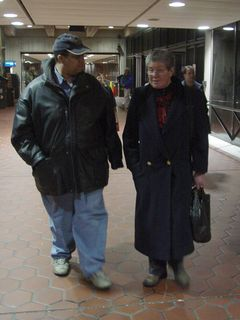 After another great day in DC is over, Mom and Matthew Tilley walk and talk as we return to the Sable.