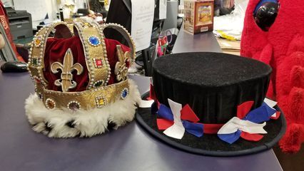 The hats! The crown looked a little worse for wear after so many years, but the beefeater hat was in great shape.