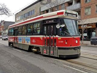 Toronto streetcar 4189, which took us from John Street to the store.