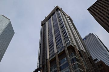 Before leaving Old City Hall, I got a photo of the Simpson Tower, which is attached to the store, and was receiving new exterior cladding at the time of my visit.