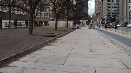 """Nathan Phillips Square was the location of a short scene in """"Our Story Part 1"""" during Muffy's search for a new home."""