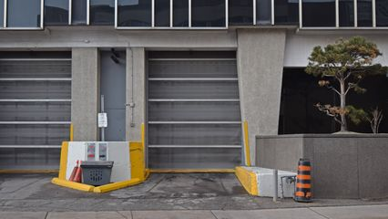 The loading dock at 2180 Yonge Street, where Jeff arrived at the store.