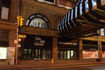 """The area around the skywalk to the Eaton Centre. This is similar to the establishing shot before Jeff's """"In the Night, There's Magic"""" song in """"Wheels"""". Jeff stood in that rounded window at the beginning of that song."""