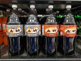 Canadian A&W Root Beer. Note the slightly different logo, and the French language wording on the packaging.