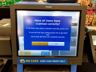 You always knew that Walmart had a certain level of contempt for its customers. These prompts on the self checkout seem to confirm this, as it is made quite clear that they think that their customers are out to scam them.