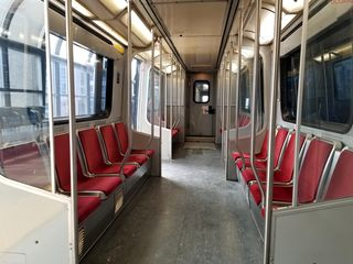 Interior of car 3005 on the Scarborough Line.