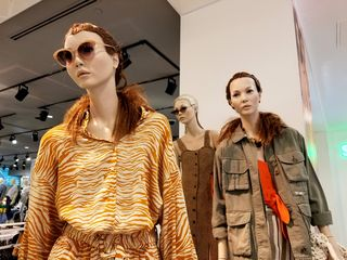 """Mannequins on the second floor at the store. I commented on Instagram, """"These mannequins look bored out of their minds. I guess if you're fashionable, you're bored?"""""""