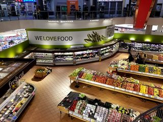 The Loblaws caught my attention because it was the entire bottom level of the facility. Rather than just having open space at the bottom of this large atrium, it was a full Loblaws store, open to the levels above.