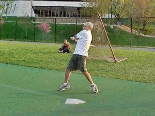 UREC softball, April 19, 2001