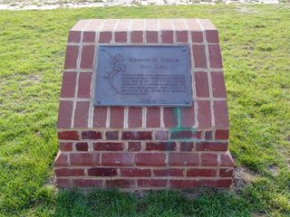I also found the dedication plaque near the playground. This was carried over from the old rest area.