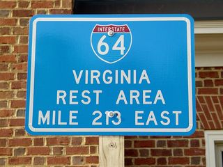 And of course, some things never change, as we find the marker sign common to all Virginia rest areas.