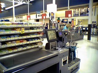 Dig the self checkouts! These are just cool. Also very different from the ones in Waynesboro. I think that these are far superior to the ones in Waynesboro, with these being a lot friendlier, both in the digital voice, and with the user interface. Wish that Waynesboro had gotten this kind, but that's not going to happen...