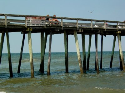 Virginia Beach fishing pier as viewed from the south