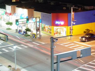 First, however, I warmed up with a little aerial photography of the strip from the street side of the hotel...