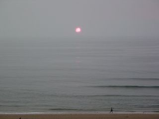The sun was up, but this was destined to be a very gray day.