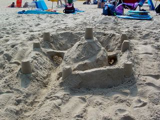 ...while others built magnificent sand castles.