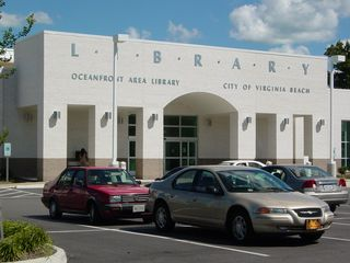This is the Oceanfront Area Library, where I used the Internet while on vacation. It's a nice library of fairly recent construction.