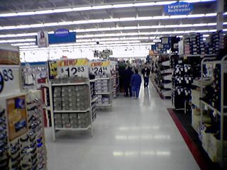 As you can see, this is a HUGE Wal-Mart!  We definitely got our exercise this evening...