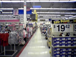 The Dayton Wal-Mart is a lot smaller than the big Harrisonburg Wal-Mart, but still a Supercenter.  We tackled this one with no problem.