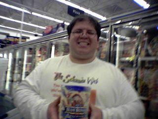 Here, I'm posing with some ice cream.  Mmmmmmmmmmmmm...