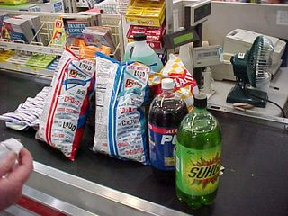 """""""You'd think we love junk food by the looks of our purchases today!"""""""