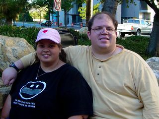 The first photo Stephanie took was of the two of us.