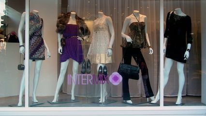 A storefront in Georgetown - Katie questioned who could wear or would want to wear such outfits.