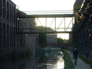 The C&O Canal, one of the landmark features of Georgetown.