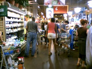 Yes, it's busy at Whole Foods on P Street!