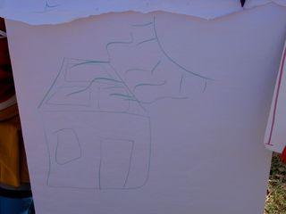 My drawing. Not bad for thirty seconds in the middle of the park, no?