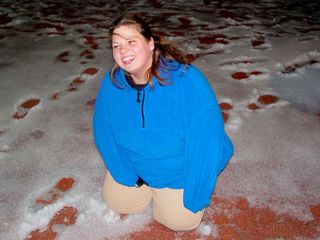 And meanwhile, like any good friend would do, when Katie landed on the ice, I pulled out the camera and captured a memory.