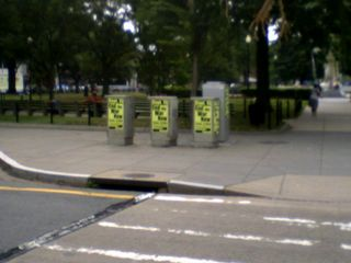 On July 16, ANSWER posters for the September 15 march were placed at Dupont Circle...