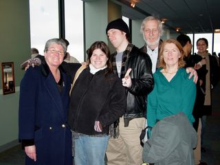 Later that day, we all went up to the observation deck of the Sears Tower. Left to right, we have Mom, Sis, and the Lysys: Chris, Dan, and Helen. I enjoyed the Lysys' company. Very nice people.