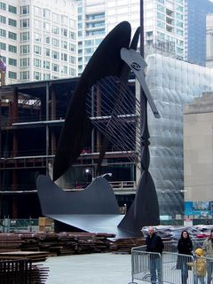 The Picasso sculpture in the Richard J. Daley Plaza.